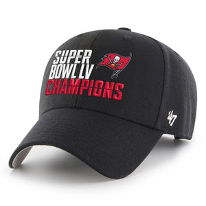 Tampa Bay Buccaneers Black Super Bowl LV Champions MVP Adjustable Hat