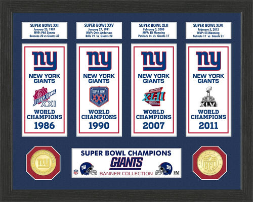 New York Giants Super Bowl Banner Collection Photo Mint