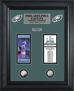 Philadelphia Eagles Deluxe Super Bowl 52 Championship Ticket Collection
