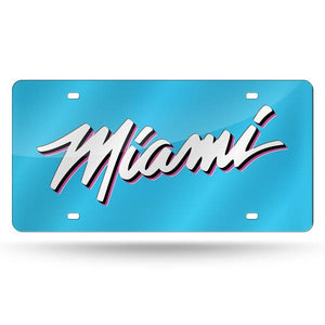 Miami Heat Vice Nights Chrome Laser Tag License Plate