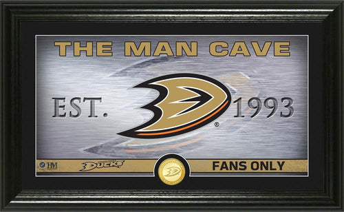 Anaheim Ducks Man Cave Panoramic Bronze Coin Photo Mint