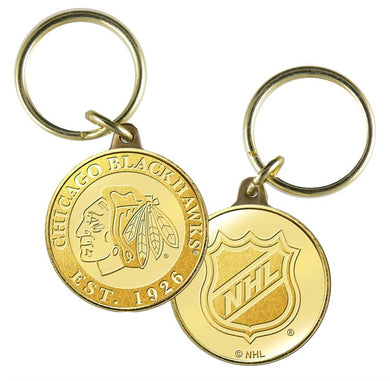 Chicago Blackhawks Bronze Team Keychain