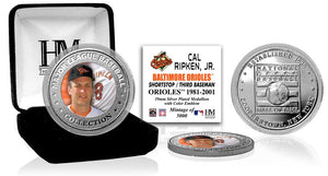 Cal Ripken Jr. Baltimore Orioles Baseball Hall of Fame Silver Color Coin
