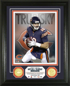 Mitch Trubisky Chicago Bears Bronze Coin Photo Mint