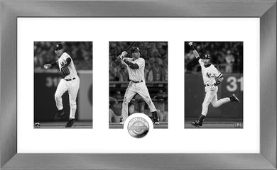 Derek Jeter New York Yankees 2020 HOF Induction Art Deco Silver Coin Photo Mint