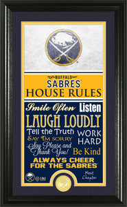 Buffalo Sabres House Rules Supreme Bronze Coin Photo Mint