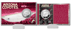 Arizona Coyotes History Silver Coin Card