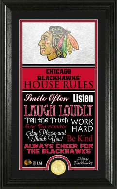 Chicago Blackhawks House Rules Supreme Bronze Coin Photo Mint