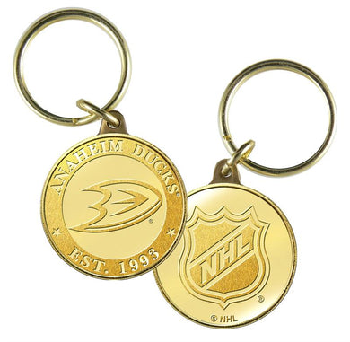 Anaheim Ducks Bronze Team Keychain