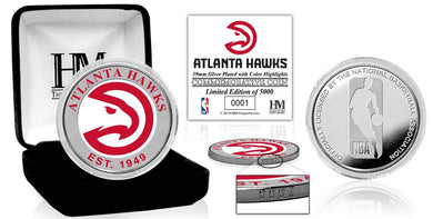 Atlanta Hawks Color Silver Coin