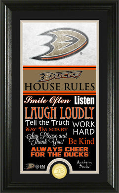 Anaheim Ducks House Rules Supreme Bronze Coin Photo Mint
