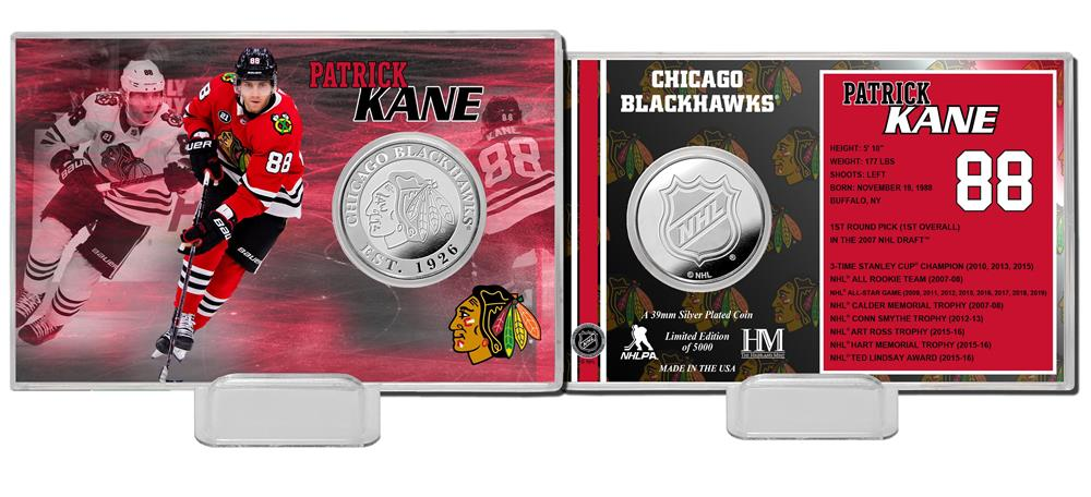 Patrick Kane Chicago Blackhawks Silver Coin Card