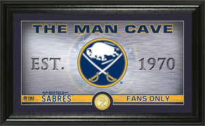 Buffalo Sabres Man Cave Panoramic Bronze Coin Photo Mint