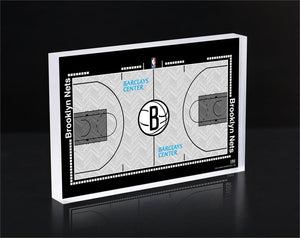 Brooklyn Nets Court 3D Acrylic Block
