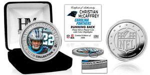 Christian McCaffrey Carolina Panthers Silver Color Coin