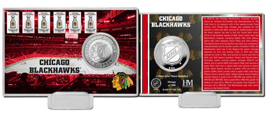 Chicago Blackhawks Silver Coin Card