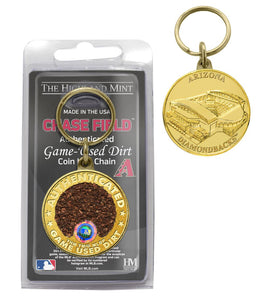 Arizona Diamondbacks Chase Field Dirt Coin Keychain
