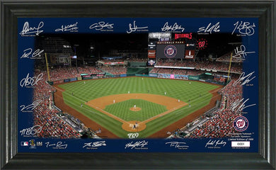 Washington Nationals Signature Field Limited Edition Frame