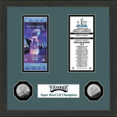 Philadelphia Eagles Super Bowl 52 Championship Ticket Collection
