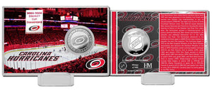 Carolina Hurricanes History Silver Coin Card