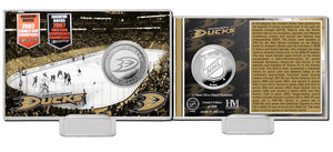 Anaheim Ducks History Silver Coin Card