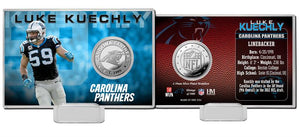 Luke Kuechly Carolina Panthers Silver Coin Card