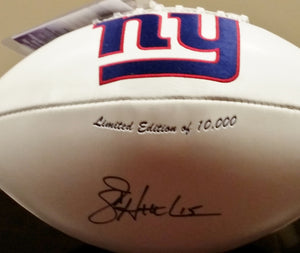 wvu football, jeff hostetler autograph, new york giants