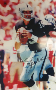 jeff hostetler raiders autograph, wvu football