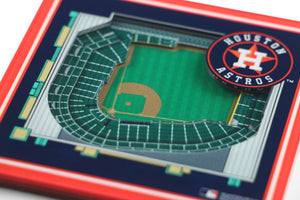 Houston Astros 3D StadiumViews Coaster Set