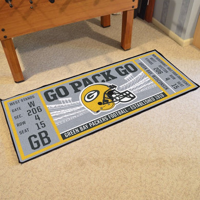 Green Bay Packers Football Ticket Runner