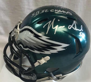 najee goode philadelphia eagles autograph, wvu football