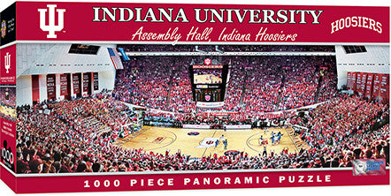 Indiana Hoosiers Basketball Panoramic Puzzle