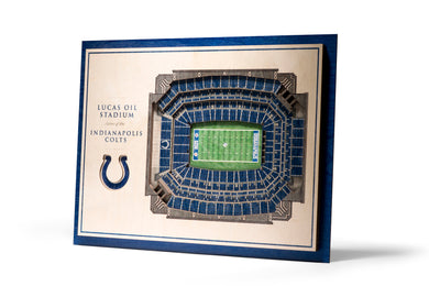indianapolis colts lucas oil stadium 3d stadiumview wall art