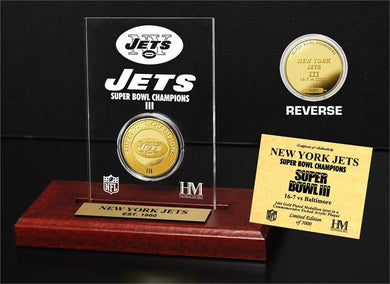 New York Jets Super Bowl Champs Etched Acrylic