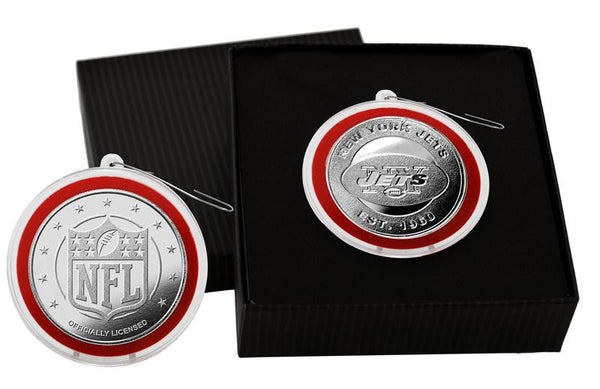 New York Jets Silver Ornament