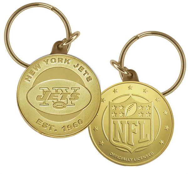 New York Jets Bronze Keychain