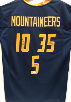 Pat White Steve Slaton & Owen Schmitt West Virginia Mountaineers Triple Autographed Jersey
