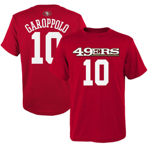 Jimmy Garoppolo San Francisco 49ers #10  Red Youth Player Name & Number Shirt