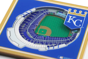 Kansas City Royals 3D StadiumViews Coaster Set