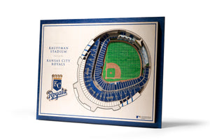 kansas city royals kauffman stadium 3d stadiumview wall art
