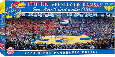 Kansas Jayhawks Basketball Panoramic Puzzle