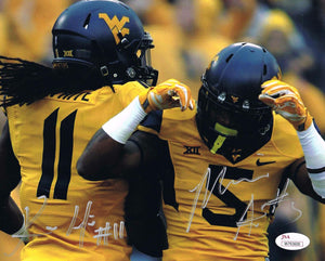 wvu football, kevin white autograph, mario alford autograph