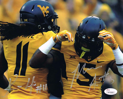 Kevin White & Mario Alford Dual Signed West Virginia Mountaineers Autograph JSA