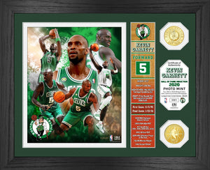 Kevin Garnett Boston Celtics Hall Of Fame Bronze Coin Photo Mint