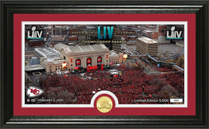 Kansas City Chiefs Super Bowl 54 Champions Parade Panoramic Bronze Coin Photo Mint