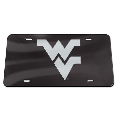 West Virginia Mountaineers Black Mirror License Plate