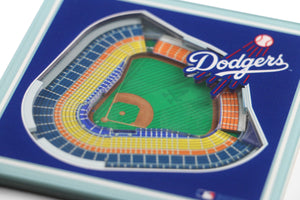 Los Angeles Dodgers 3D StadiumViews Coaster Set