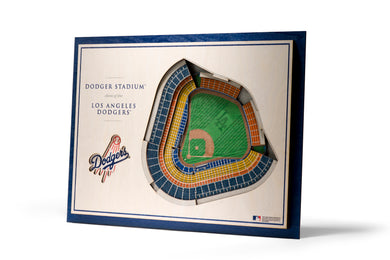 los angeles dodgers 3d stadiumview wall art