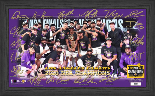 Los Angeles Lakers 2020 NBA Finals Champions Celebration Signature Court