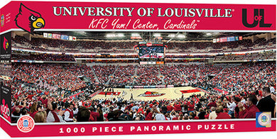 Louisville Cardinals Basketball Panoramic Puzzle